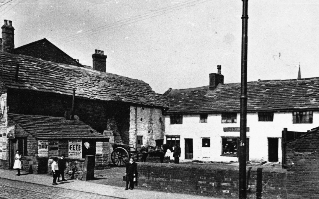 The white buildings, now 10-12 High Street, in the 19th Century (Photo courtesy of Christine